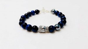 Buddha Protection Blue Tiger Eye Bracelet