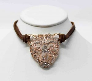 Exotic Rose Gold Panther Choker