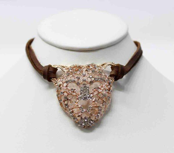 Exotic Rose Gold Panther Choker