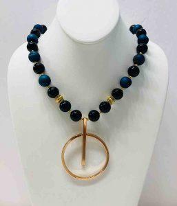 Extravaganza Blue Druzy Necklace