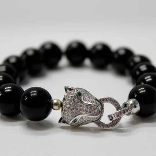 Ferocity Power Black Onyx Panther Bracelet