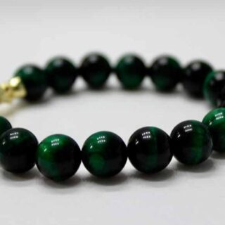 Green Evil Eye Panther Bracelet