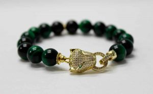 Green Evil Eye Panther Bracelet