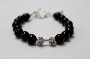 Luxury Energy Fitness Dumbbell Bracelet