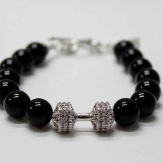 Luxury Fitness Dumbbell Bracelet