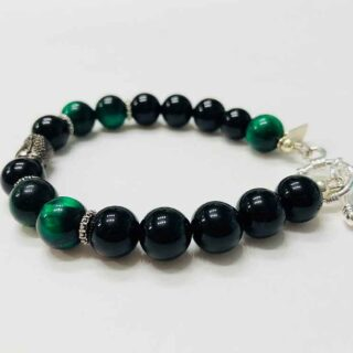 Protector Buddha Green Tiger Eye Bracelet